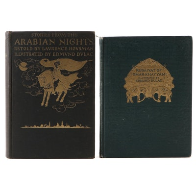 "Edmund Dulac Illustrated ""Arabian Nights"" and ""Rubáiyát,"" Early 20th Century"