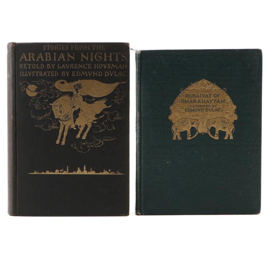 "Edmund Dulac Illustrated ""Arabian Nights"" and ""Rubáiyát,"" Early 20th Century"