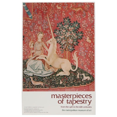 "The Metropolitan Museum of Art Exhibition Poster ""Masterpieces of Tapestry"""