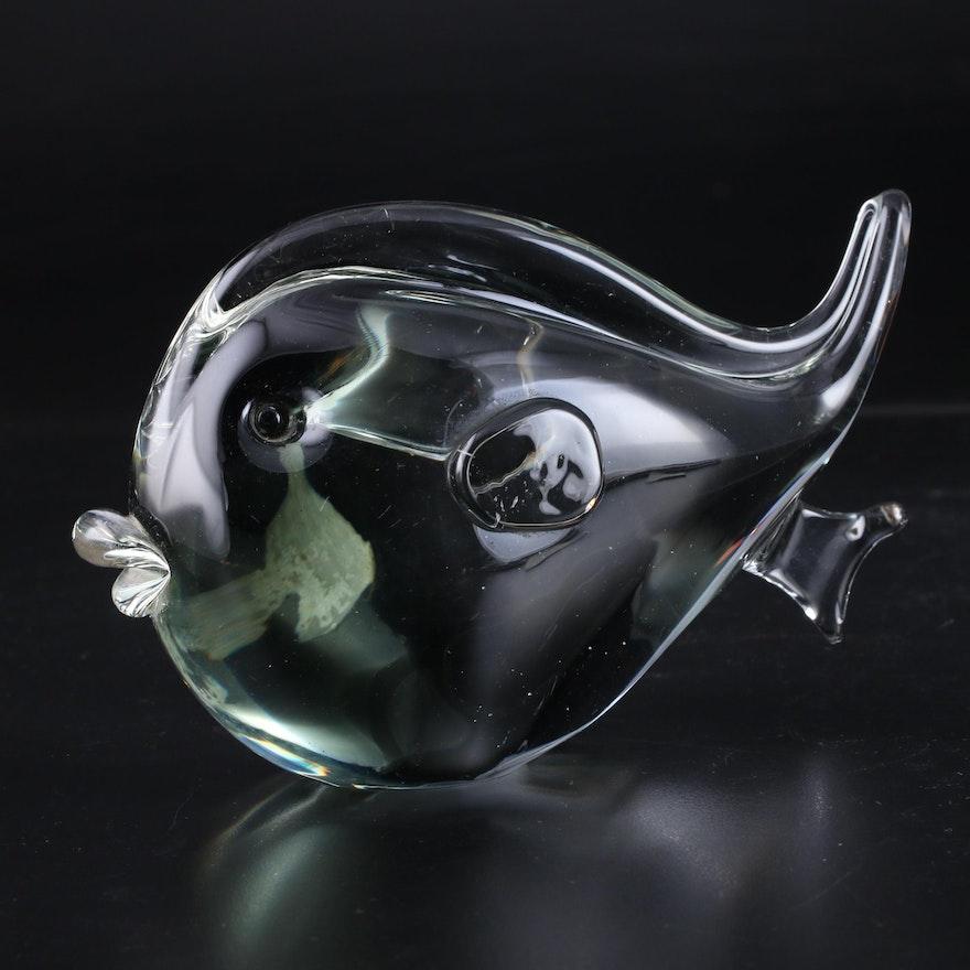 Murano Art Glass Fish Figurine, Mid to Late 20th Century