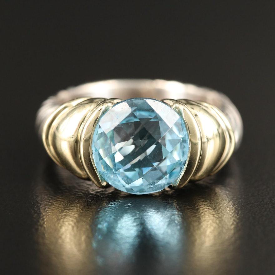 David Yurman Sterling Silver Topaz Ring