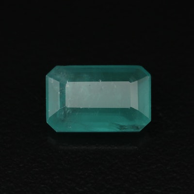 Loose 2.51 CT Cut Cornered Rectangular Faceted Emerald with GIA Report