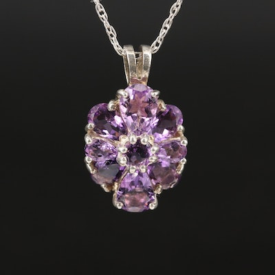 Sterling Amethyst Pendant Necklace