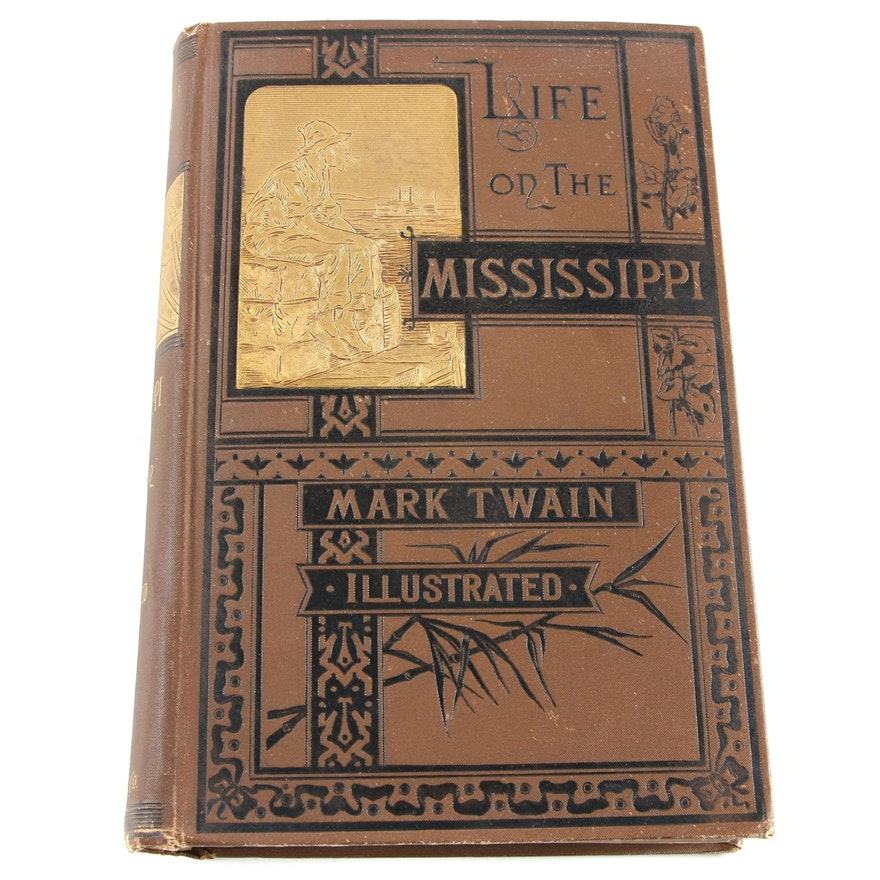 """First Edition, Second State """"Life on the Mississippi"""" by Mark Twain, 1883"""