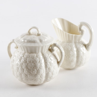 "Lenox ""Hawthorne"" Porcelain Sugar and Creamer, Mid-20th Century"