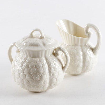 "Lenox ""Hawthorne"" Porcelain Sugar and Creamer, Mid-20th Century"