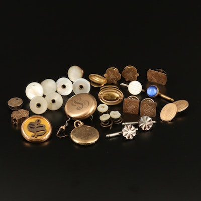 Victorian and Antique Cufflinks, Buttons and Pins