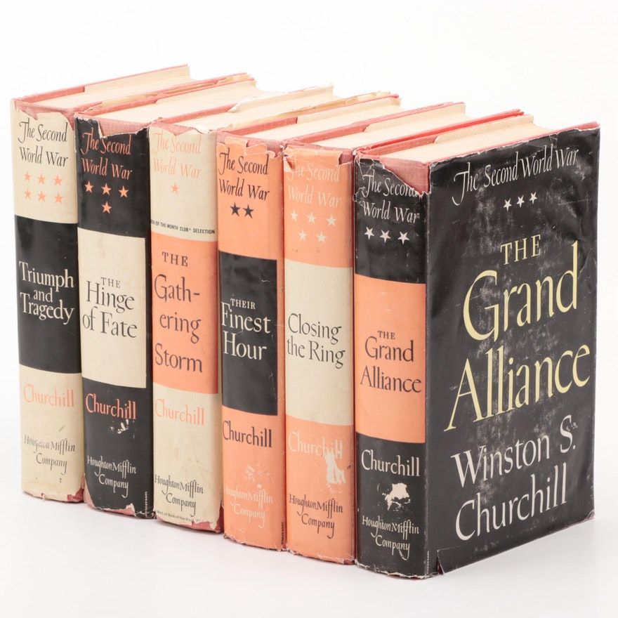"""The Second World War"" Complete Six-Volume Set by Winston S. Churchill"