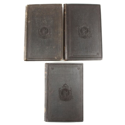 "First Edition ""The History of Massachusetts"" Three-Volume Set by Barry, 1857"