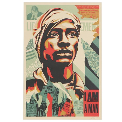 "Shepard Fairey Offset Print ""Voting Rights Are Human Rights"", 2020"