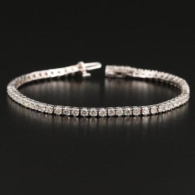 14K White Gold 3.20 CTW Diamond Tennis Bracelet