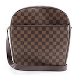 Louis Vuitton Ipanema GM Bag in Damier Ebene Canvas with Smooth Leather Trim