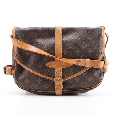 Louis Vuitton Saumur 30 Messenger Bag in Monogram Canvas and Vachetta Leather