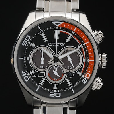 Citizen Eco-Drive Chandler Chronograph Stainless Steel Quartz Wristwatch