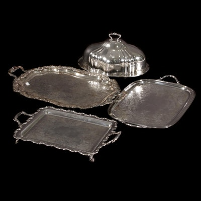 Silver Plate Serving Trays Including Reed & Barton, Rogers & Bro. and More