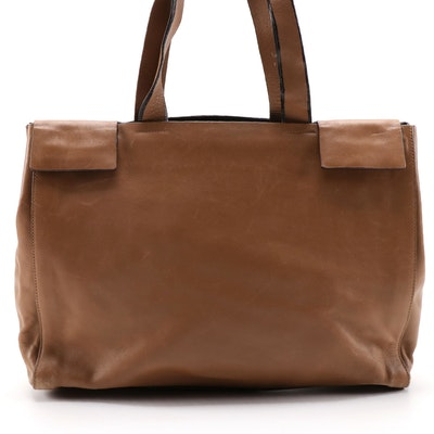 Prada Tan Leather Tote Bag