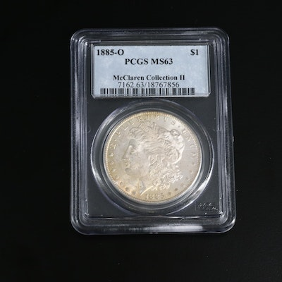 PCGS Graded MS63 1885-O Morgan Silver Dollar