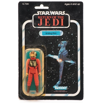 "Kenner ""Return of the Jedi"" B-Wing Pilot Action Figure, Original Packaging, 1984"
