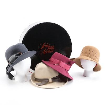 Mr. John Jr., Kurt Jr., Lisette and More Felt Hats with Saks Hat Box