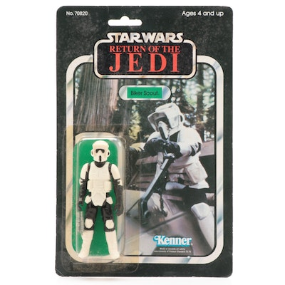 "Kenner ""Return of the Jedi"" Biker Scout Action Figure, Original Packaging, 1983"