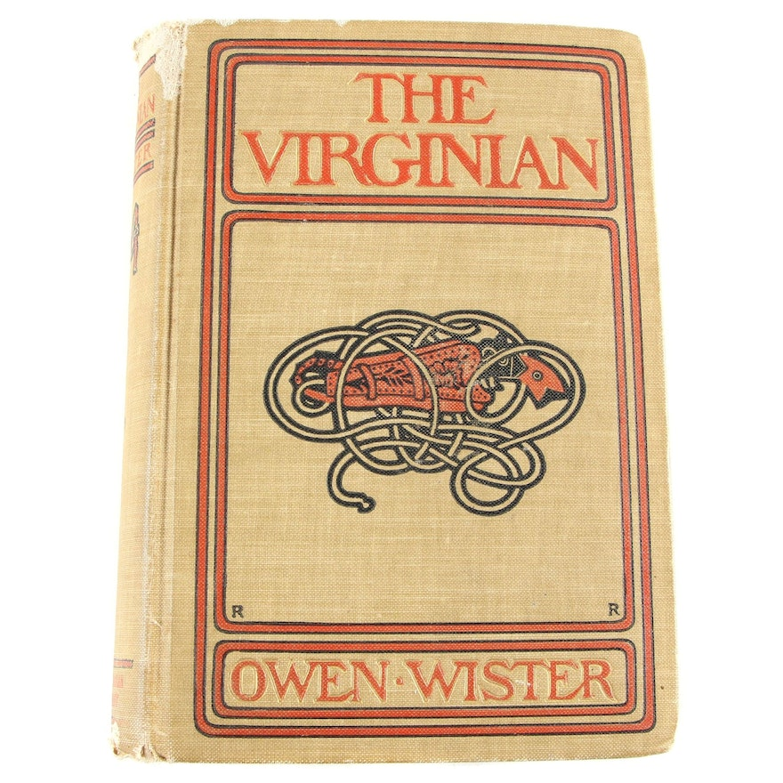"Early Printing ""The Virginian: A Horseman of the Plains"" by Owen Wister, 1902"