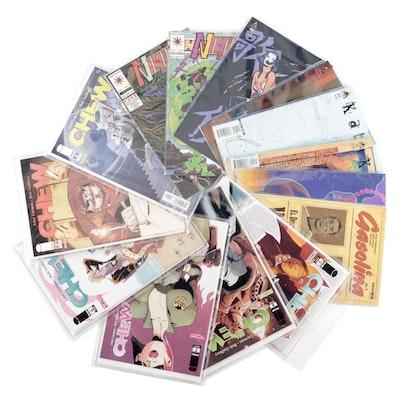 """""""Chew,"""" """"Kabuki,"""" """"Ninjak,"""" and """"Gasolina"""" Comics"""