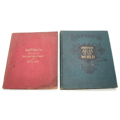 Rand, McNally & Co.'s World and U.S. Atlases, Early 20th Century