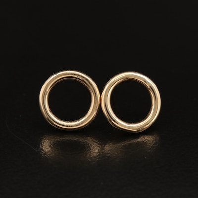 14K Concentric Stud Earrings