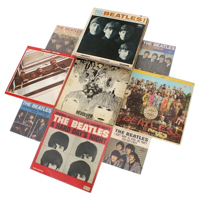 "The Beatles Vinyl Records Including ""A Hard Days Night"" and ""Revolver"""