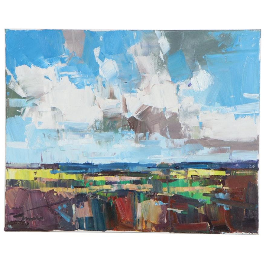 "Jose Trujillo Oil Painting ""The Endless Bliss"", 2020"