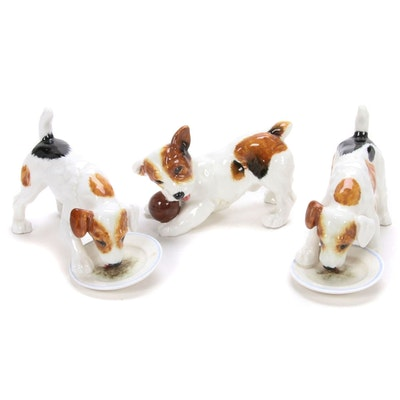 Royal Doulton Hand-Painted Porcelain Terrier Figurines