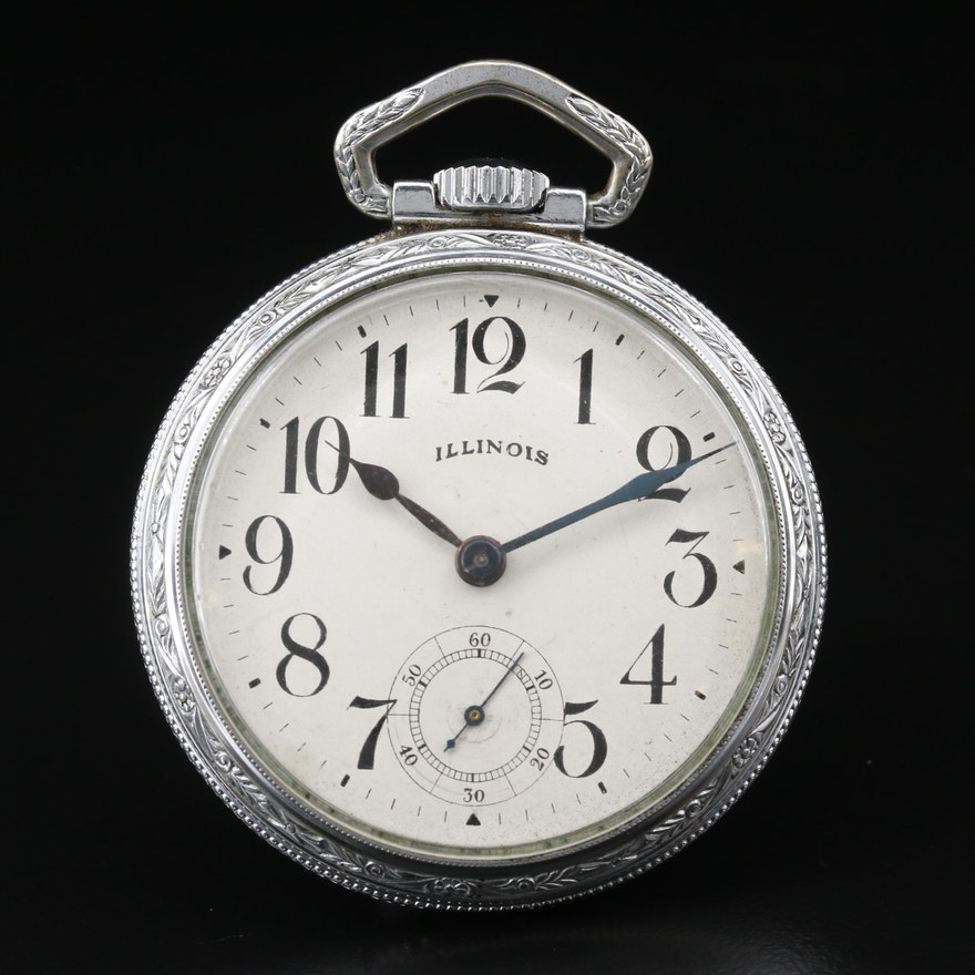 1921 Illinois Bunn Special Railroad Grade Pocket Watch