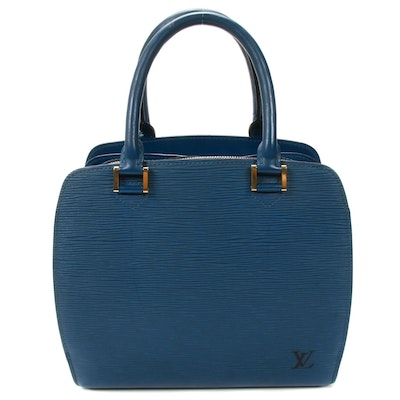 Louis Vuitton Pont Neuf Satchel in Toledo Blue Epi Leather