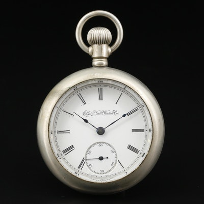 1895 Elgin National Watch Co. Nickel Pocket Watch