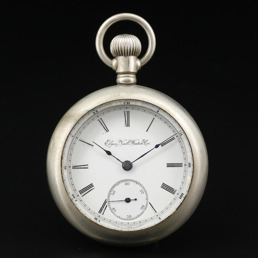 1895 Elgin National Watch Co. Nickel Pocket Watch