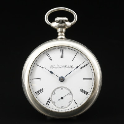 1891 Elgin National Watch Co. Nickel Pocket Watch
