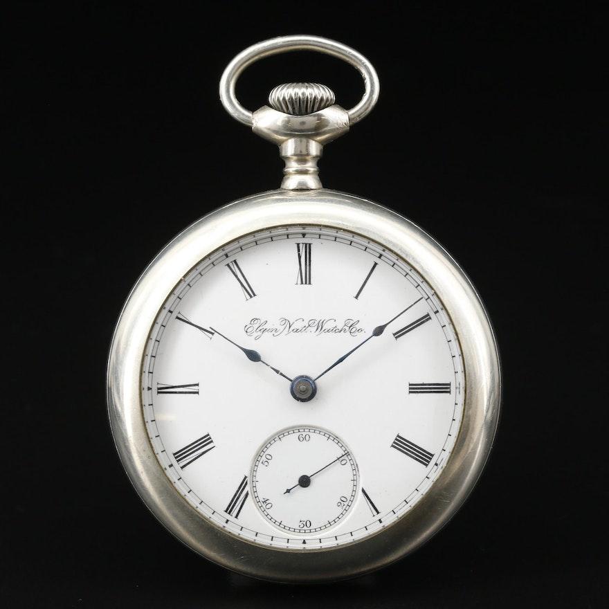1891 Elgin National Watch Co. Nickel Pocket Watch