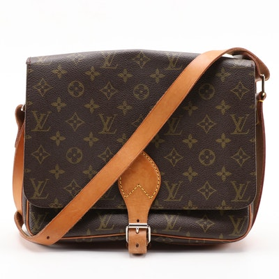 Louis Vuitton Cartouchiere GM Flap Front Bag in Monogram Canvas