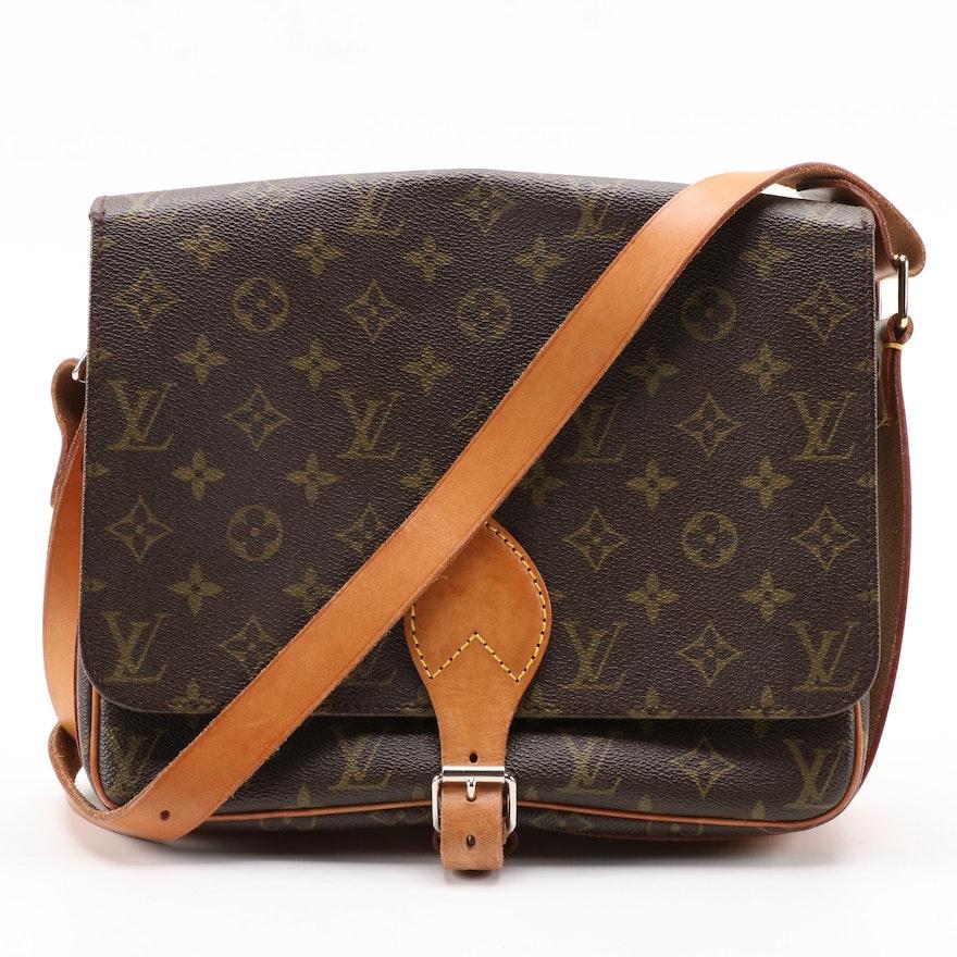 Louis Vuitton Cartouchiere GM Flap Front Bag in Monogram Canvas