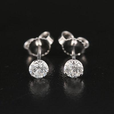 14K 0.40 CTW Diamond Solitaire Martini Set Stud Earrings