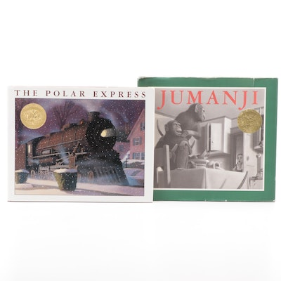 "Signed ""The Polar Express"" with ""Jumanji"" by Chris Van Allsburg, 1980s"