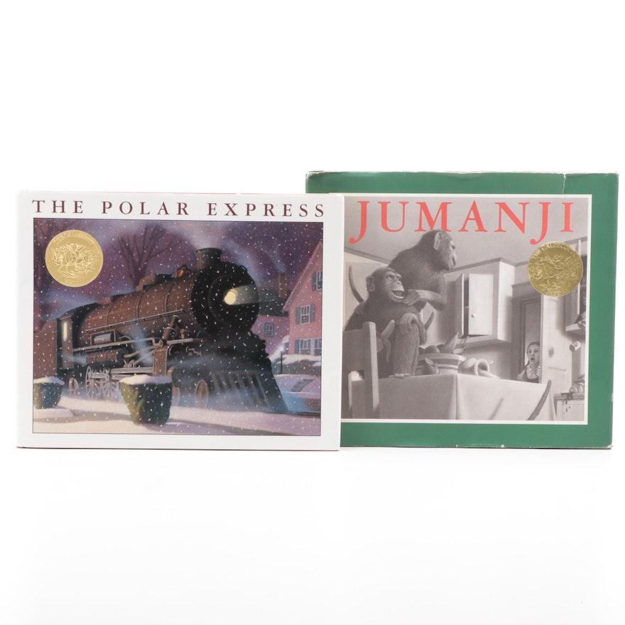 "Signed ""The Polar Express"" with ""Jumanji"" by Chris Van Allsburg, 1980s"