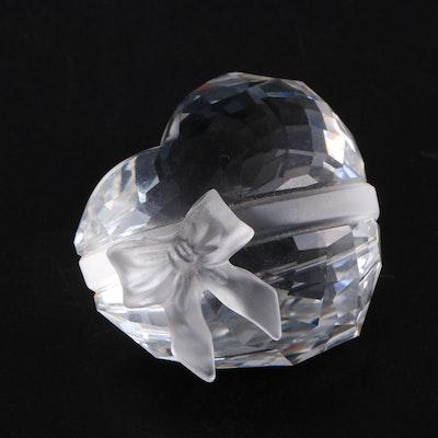 Swarovski Crystal Heart Paperweight