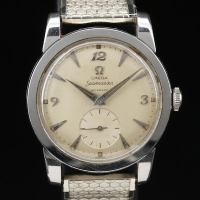 Omega Seamaster Automatic Stainless Steel Wristwatch, Circa 1952