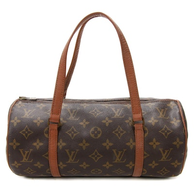 Louis Vuitton Papillon Barrel Bag in Monogram Canvas and Leather