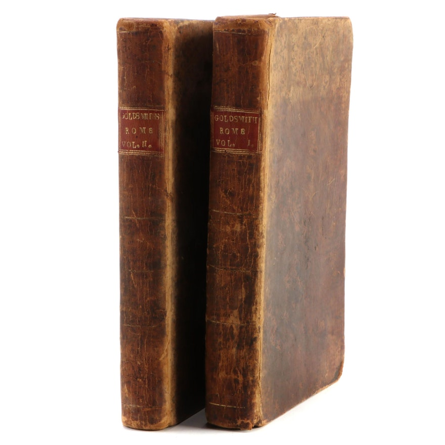 """""""The Roman History"""" Two-Volume Set by Dr. Goldsmith, 1797"""
