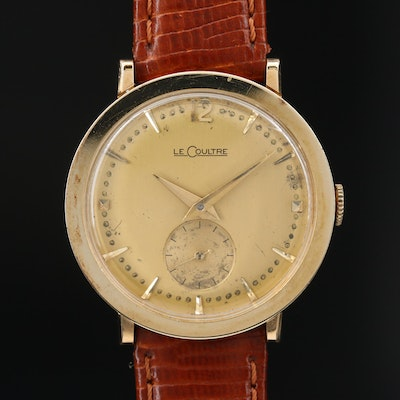 14K LeCoultre Stem Wind Wristwatch