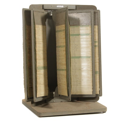 "Remington Rand ""Kardex"" Index Card Flip File, Mid-20th Century"