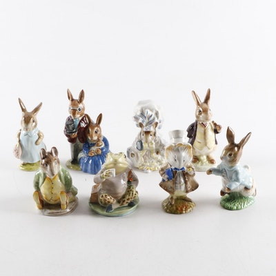 "Royal Doulton and F. Warne & Co. ""Beatrix Potter"" and ""Bunnykins"" Figurines"
