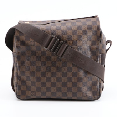 Louis Vuitton Naviglio Messenger Bag in Damier Ebene